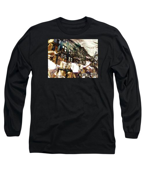 The Silver Factory / 231 East 47th Street Long Sleeve T-Shirt by Elizabeth McTaggart