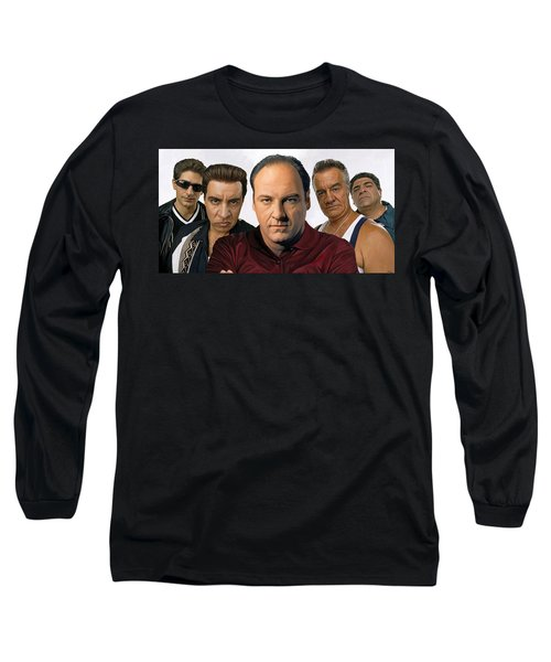 Long Sleeve T-Shirt featuring the painting The Sopranos  Artwork 2 by Sheraz A