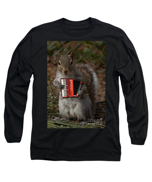 The Squirrel And His Accordion Long Sleeve T-Shirt