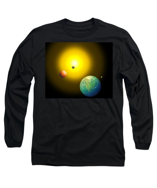 The Sun Long Sleeve T-Shirt by Cyril Maza