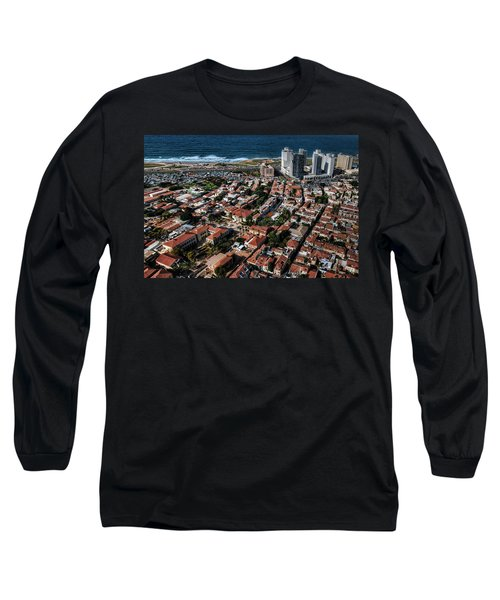 Long Sleeve T-Shirt featuring the photograph the Tel Aviv charm by Ron Shoshani
