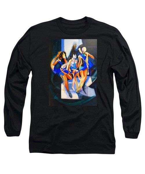 Long Sleeve T-Shirt featuring the painting The Three Graces by Georg Douglas