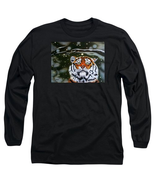 The Tiger In Winter Long Sleeve T-Shirt