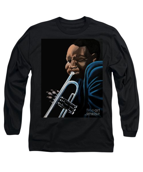 Long Sleeve T-Shirt featuring the painting The Trumpeter by Barbara McMahon