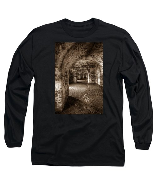 Long Sleeve T-Shirt featuring the photograph The Tunnels Of Fort Pike by Tim Stanley