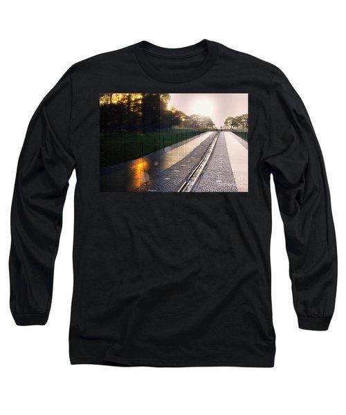 Long Sleeve T-Shirt featuring the photograph The Vietnam Wall Memorial  by John S
