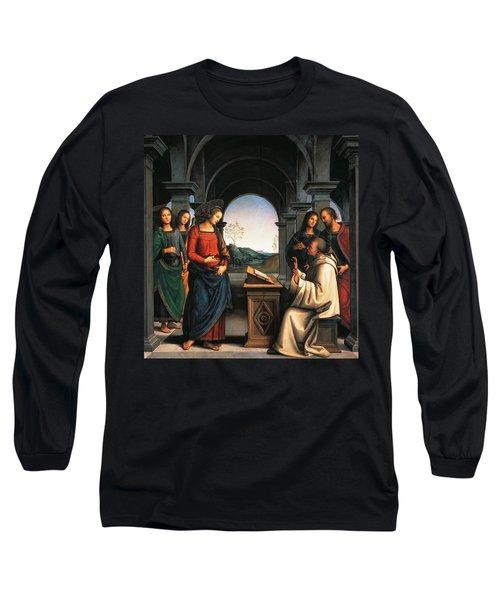 The Vision Of St Bernard Long Sleeve T-Shirt