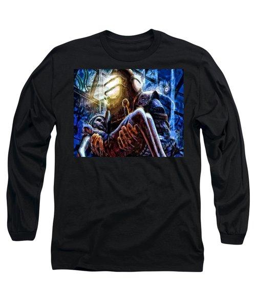 The Watchful Protector Long Sleeve T-Shirt by Joe Misrasi
