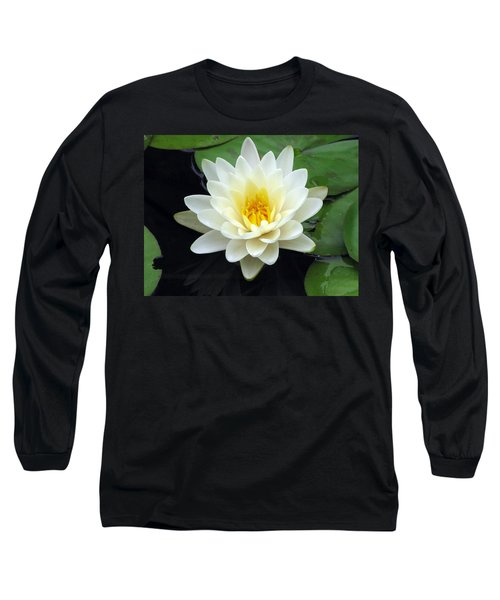 Long Sleeve T-Shirt featuring the photograph The Water Lilies Collection - 02 by Pamela Critchlow