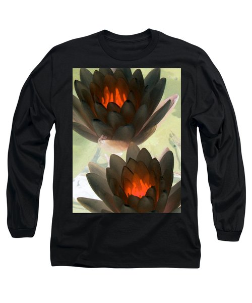 Long Sleeve T-Shirt featuring the photograph The Water Lilies Collection - Photopower 1042 by Pamela Critchlow