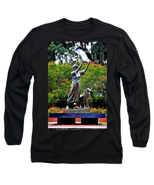 The Waving Girl Of Savannah Long Sleeve T-Shirt