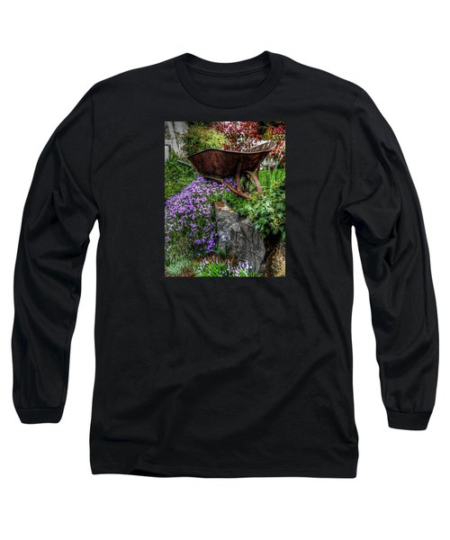 Long Sleeve T-Shirt featuring the photograph The Whimsical Wheelbarrow by Thom Zehrfeld
