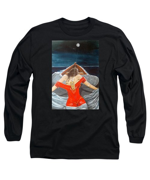 The Whims Of The Moon  Long Sleeve T-Shirt by Lazaro Hurtado