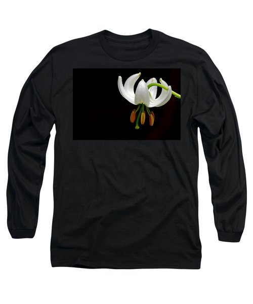 The White Form Of Lilium Martagon Named Album Long Sleeve T-Shirt by Torbjorn Swenelius