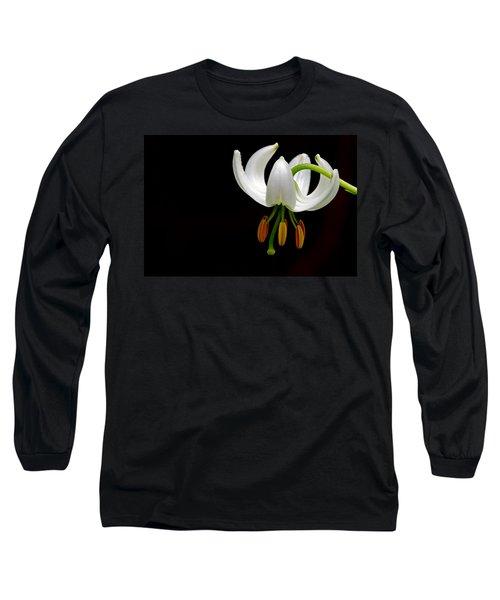 The White Form Of Lilium Martagon Named Album Long Sleeve T-Shirt