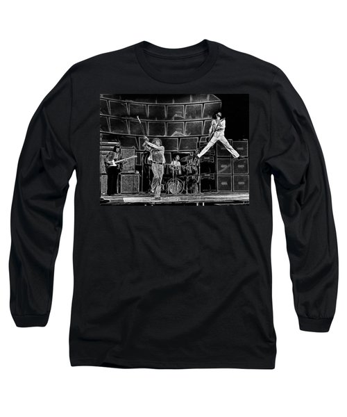 The Who - A Pencil Study - Designed By Doc Braham Long Sleeve T-Shirt