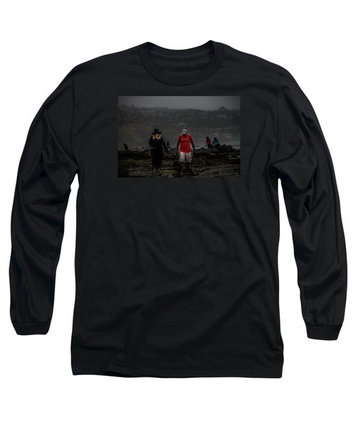 The Witch On The Beach Long Sleeve T-Shirt by Menachem Ganon
