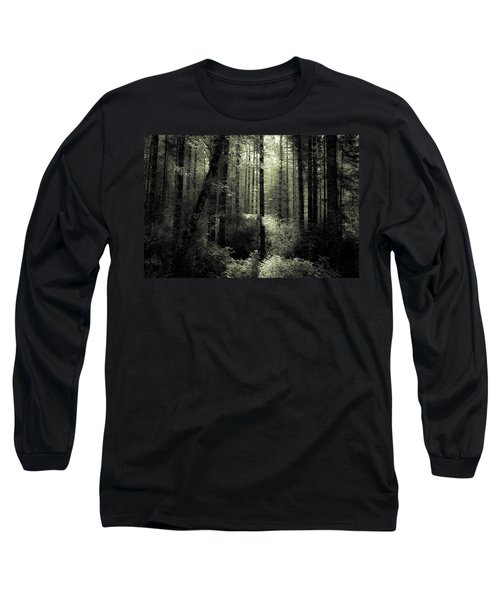 Long Sleeve T-Shirt featuring the photograph The Woods by Katie Wing Vigil