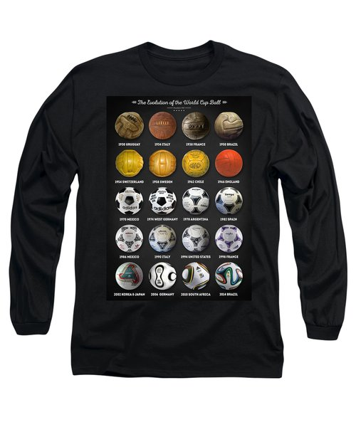 The World Cup Balls Long Sleeve T-Shirt by Taylan Apukovska