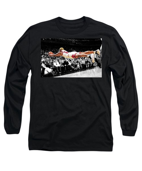 The Worm Dennis Rodman Long Sleeve T-Shirt by Brian Reaves