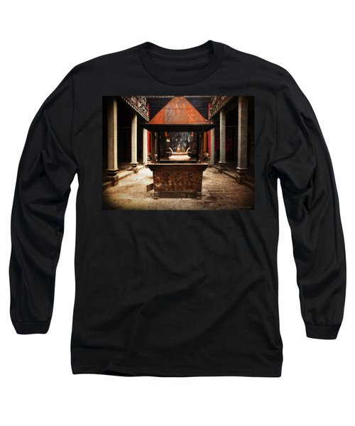 Long Sleeve T-Shirt featuring the photograph Thien Hau Temple  by Lucinda Walter