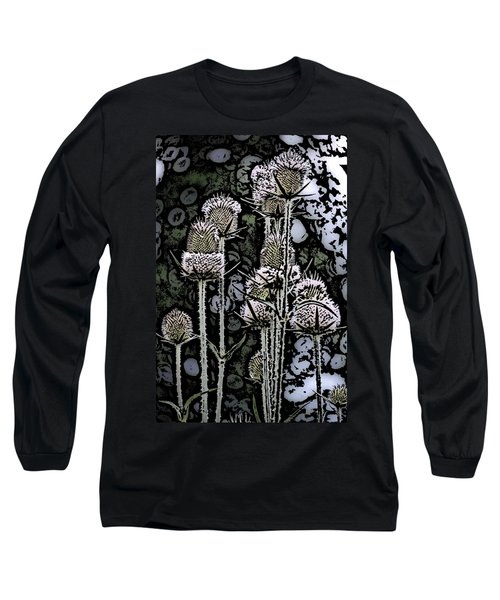 Long Sleeve T-Shirt featuring the digital art Thistle  by David Lane