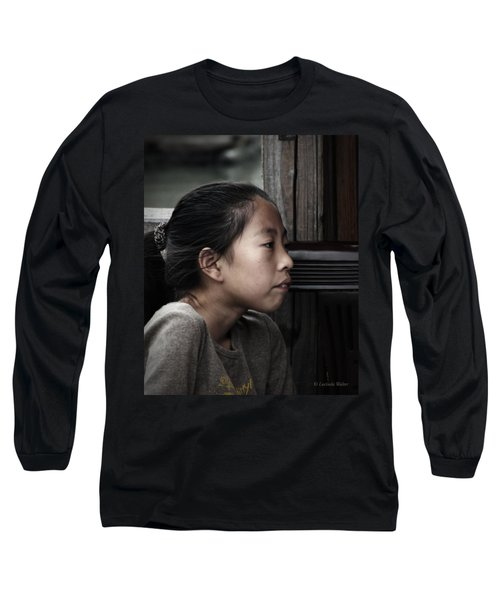 Long Sleeve T-Shirt featuring the photograph Thoughts by Lucinda Walter