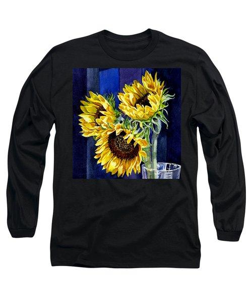 Three Sunny Flowers Long Sleeve T-Shirt