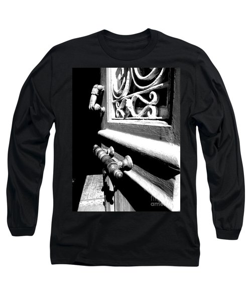 Through An Open Door Into Darkness Long Sleeve T-Shirt by Vicki Spindler
