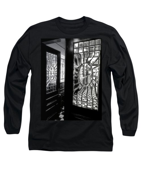 Through The Lookinglass And Onto The Checkerboard Long Sleeve T-Shirt by Robert McCubbin