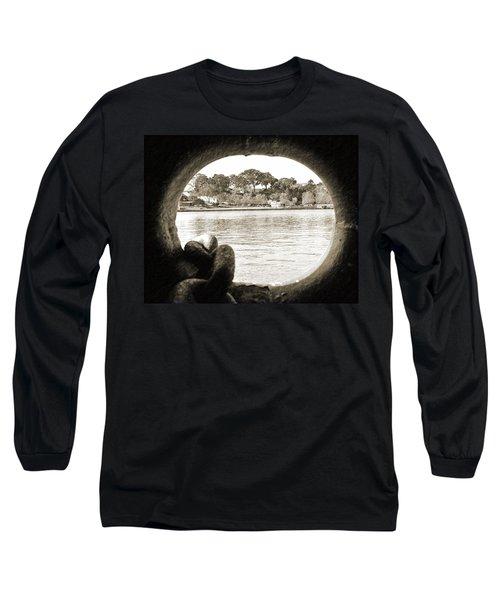 Through The Porthole Long Sleeve T-Shirt by Holly Blunkall