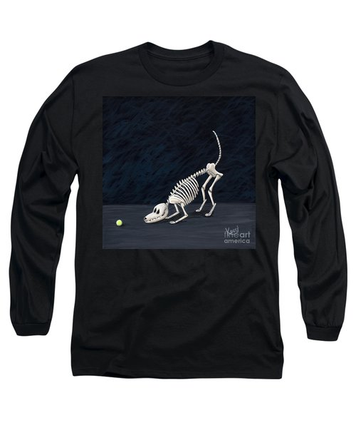 Throw The Ball Long Sleeve T-Shirt by Kerri Ertman