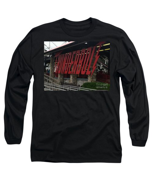 Thunderbolt Roller Coaster Long Sleeve T-Shirt by Michael Krek