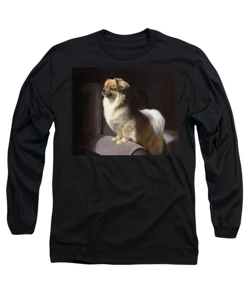 Tibetan Spaniel Painting Long Sleeve T-Shirt