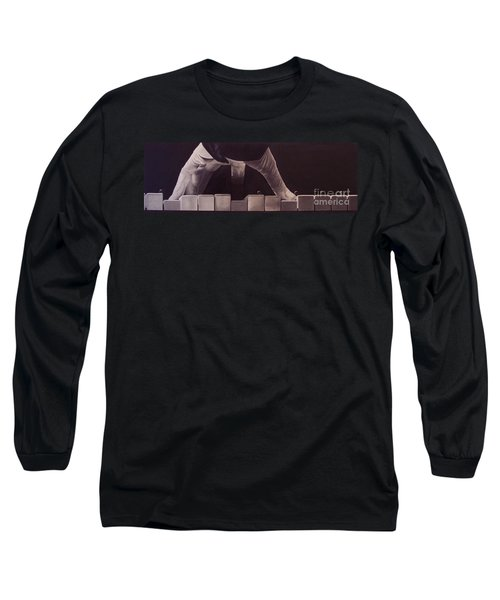 Long Sleeve T-Shirt featuring the drawing Tickling The Ivory Too by Wil Golden