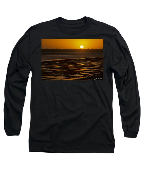 Tidal Pattern At Sunset Long Sleeve T-Shirt by Jeff Goulden