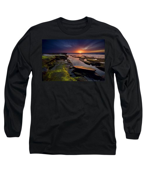 Tidepool Sunsets Long Sleeve T-Shirt by Peter Tellone