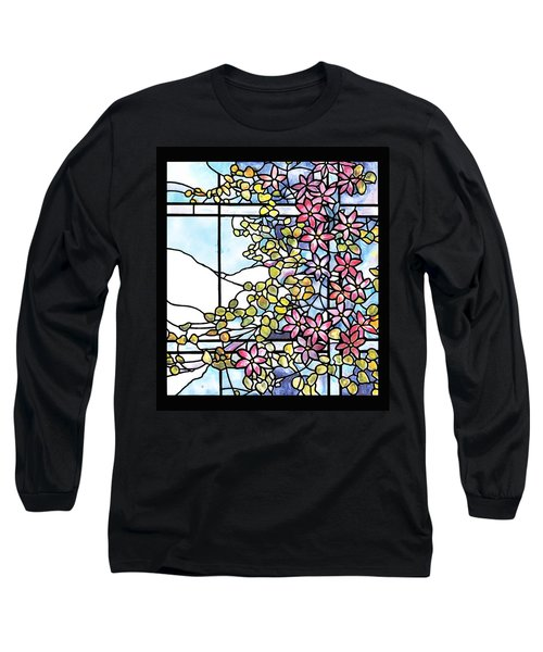 Stained Glass Tiffany Floral Skylight - Fenway Gate Long Sleeve T-Shirt