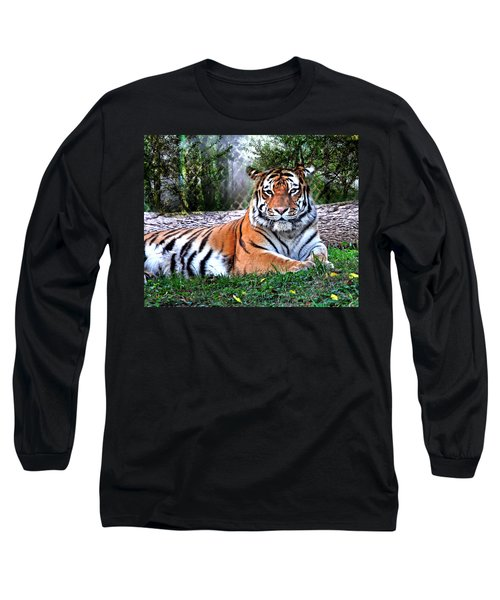 Long Sleeve T-Shirt featuring the photograph Tiger 2 by Marty Koch
