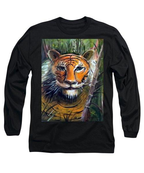Tiger Long Sleeve T-Shirt by Bernadette Krupa