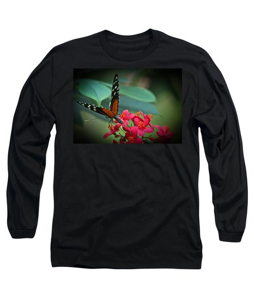 Tiger Longwing Butterfly Long Sleeve T-Shirt by Joann Copeland-Paul