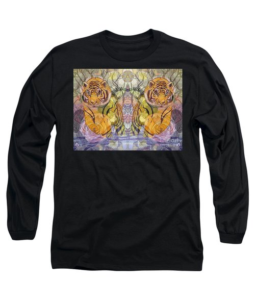 Tiger Spirits In The Garden Of The Buddha Long Sleeve T-Shirt