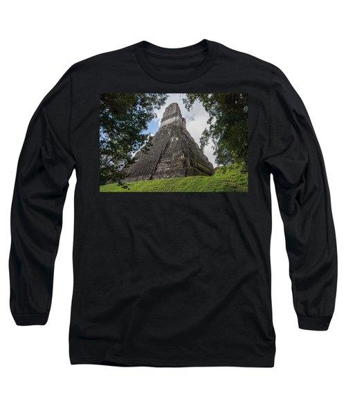 Tikal Pyramid 1b Long Sleeve T-Shirt