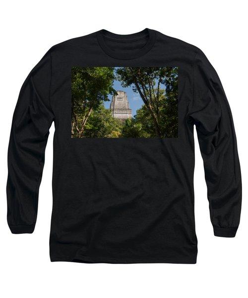 Tikal Pyramid 4b Long Sleeve T-Shirt