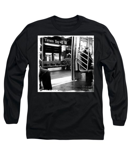 Times Square - 42nd St Long Sleeve T-Shirt by James Aiken