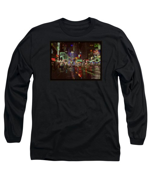 Times Square At Night - After The Rain Long Sleeve T-Shirt