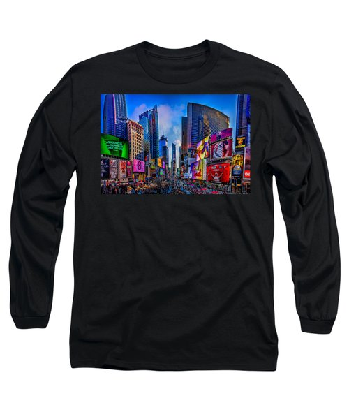 Times Square Long Sleeve T-Shirt by Chris Lord