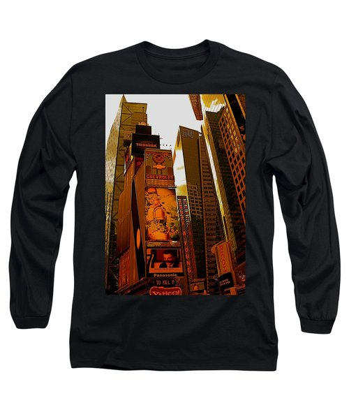 Times Square In Manhattan Long Sleeve T-Shirt
