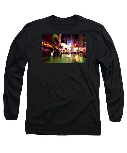 Times Square New York - Nanking Restaurant Long Sleeve T-Shirt