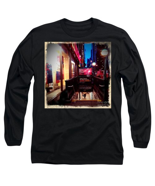 Times Square Station Long Sleeve T-Shirt by James Aiken